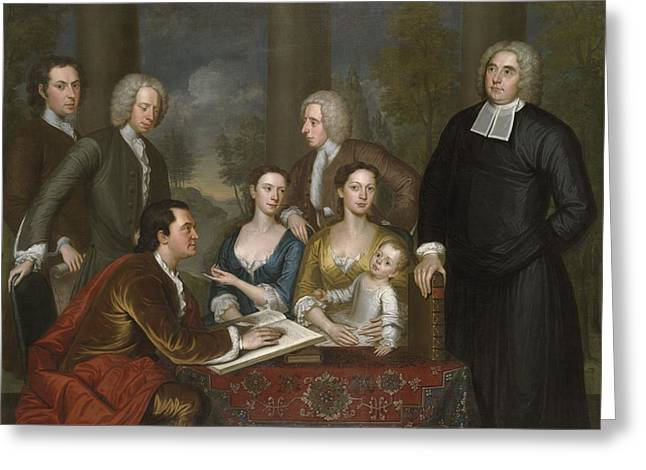 The Bermuda Group, Dean Berkeley And His Entourage, 1728 Greeting Card by John Smibert
