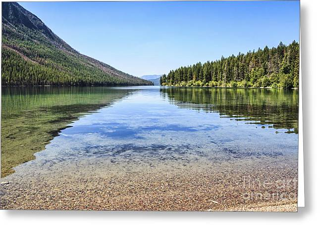 The Best Beach In Glacier National Park Greeting Card
