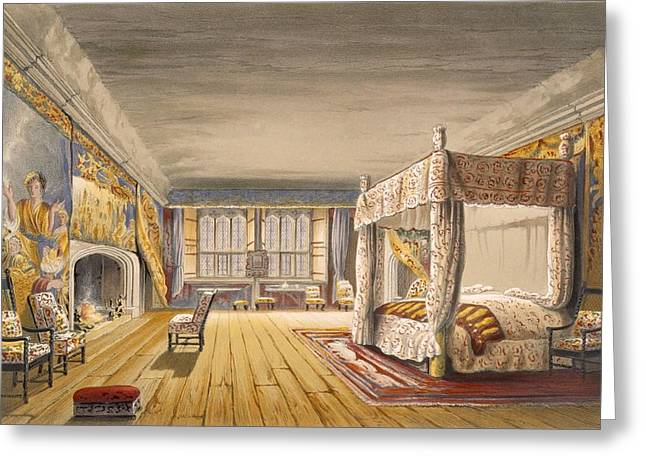 The Best Bedroom, Cotehele House Greeting Card by English School
