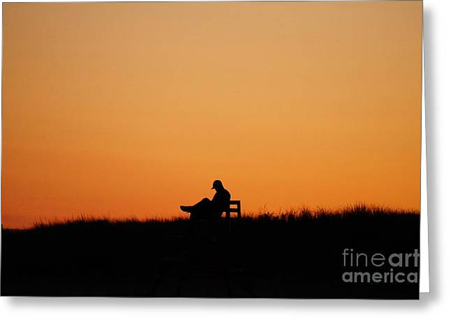 The Best Chair For A Nap At Sunset Greeting Card by Zori Minkova