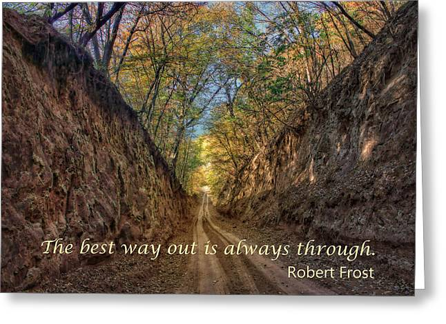 The Best Way Out Greeting Card by Nikolyn McDonald