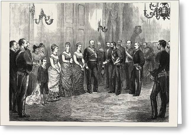 The Betrothal Of The King Of Spain The Kings Envoy Formally Greeting Card