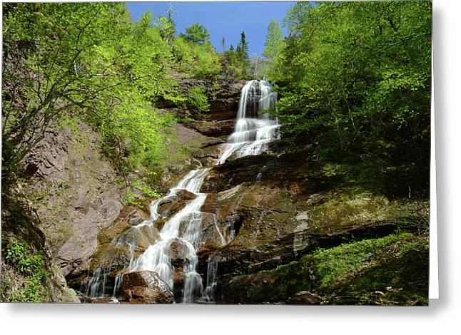 The Beulach Ban Waterfalls On The North Greeting Card