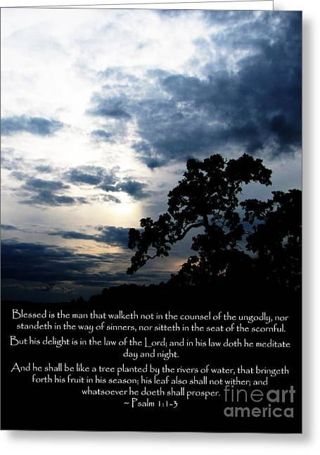 The Bible Psalm 1 Greeting Card