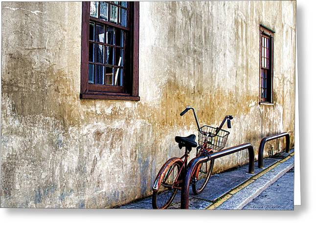 The Bicycle Greeting Card by Deborah Benoit