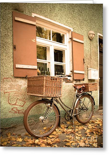 The Bicycle Greeting Card by Hannes Cmarits