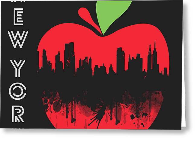 the Big Apple Greeting Card by Mark Ashkenazi