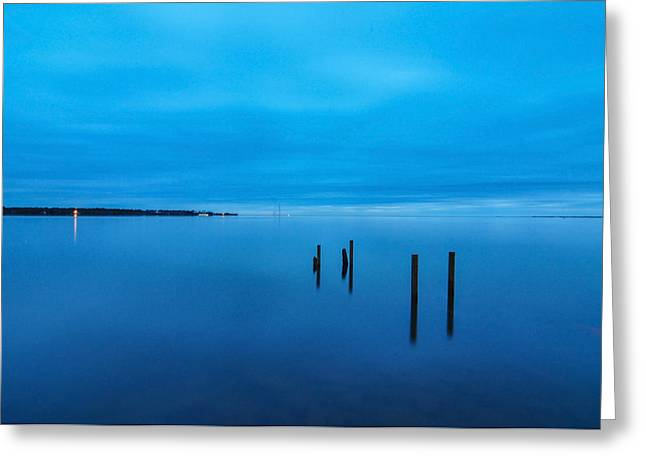 The Big Blue Greeting Card by Donnie Smith