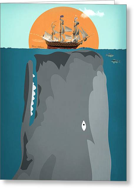 The Big Fish Greeting Card by Mark Ashkenazi