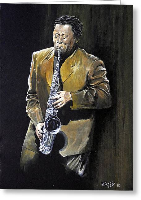 The Big Man - Clarence Clemons Greeting Card by William Walts