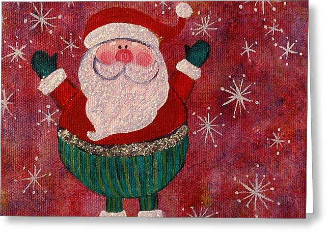 The Big Man Greeting Card by Jane Chesnut