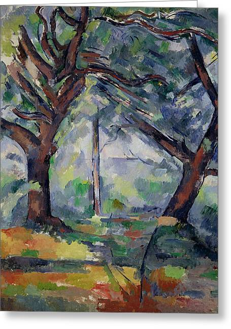 The Big Trees Greeting Card by Paul Cezanne