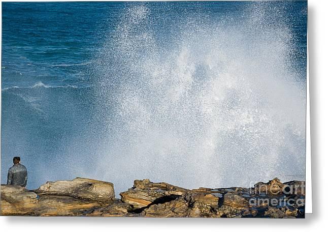 The Big Wave Greeting Card