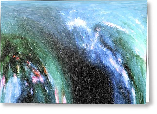 The Big Wave Greeting Card by Mariarosa Rockefeller