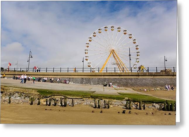 The Big Wheel And Promenade, Tramore Greeting Card by Panoramic Images