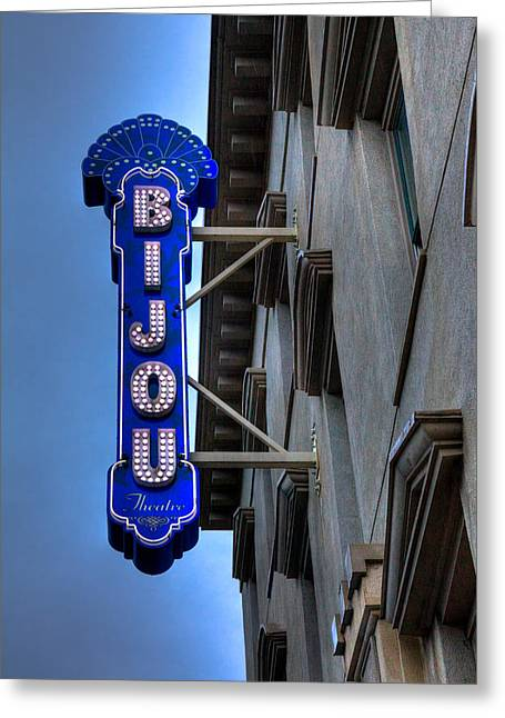 The Bijou Theatre - Knoxville Tennessee Greeting Card by David Patterson