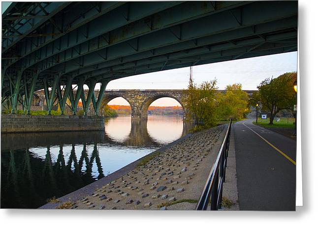 The Bike Path Along The Schuylkill River Greeting Card by Bill Cannon