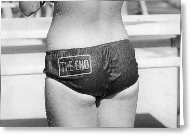 The Bikini End Greeting Card by Underwood Archives
