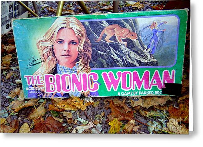 The Bionic Woman Greeting Card