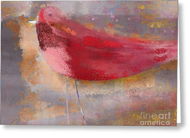 The Bird - J0911b2-s01 Greeting Card by Variance Collections