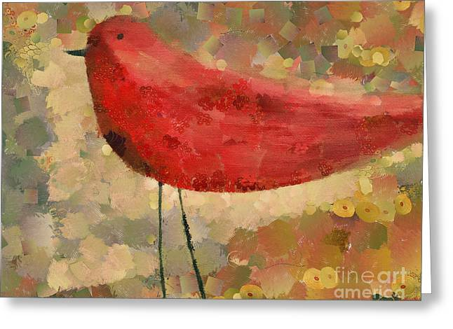 The Bird - K04d Greeting Card by Variance Collections