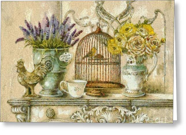 The Birdcage Greeting Card by Elizabeth Coats