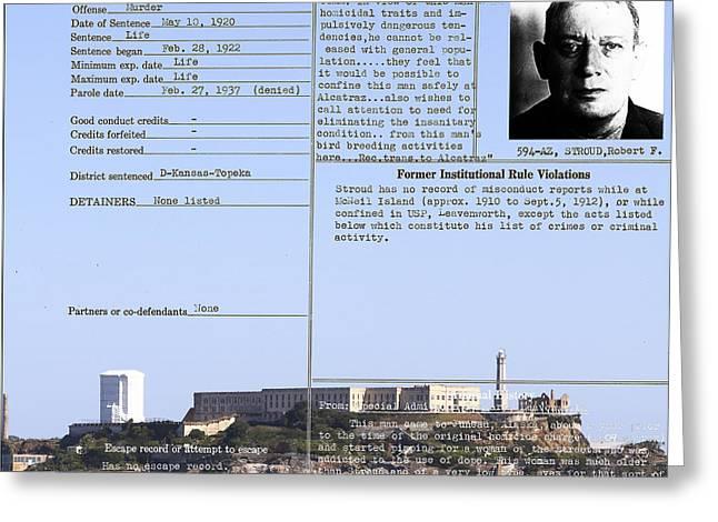 The Birdman Of Alcatraz San Francisco 20130323v2 Square Greeting Card by Wingsdomain Art and Photography