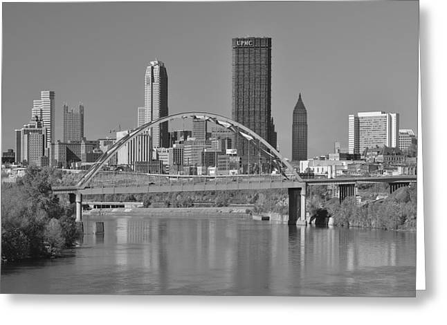 The Birmingham Bridge In Pittsburgh Greeting Card by Digital Photographic Arts