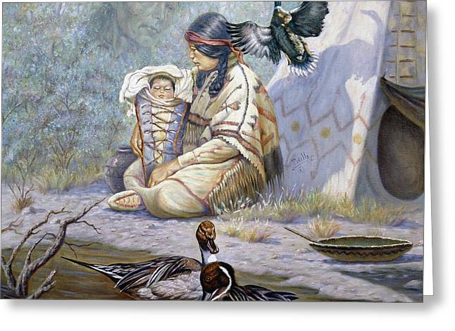 The Birth Of Hiawatha Greeting Card