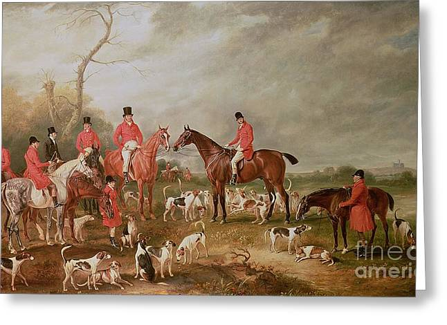The Birton Hunt Greeting Card by John E Ferneley
