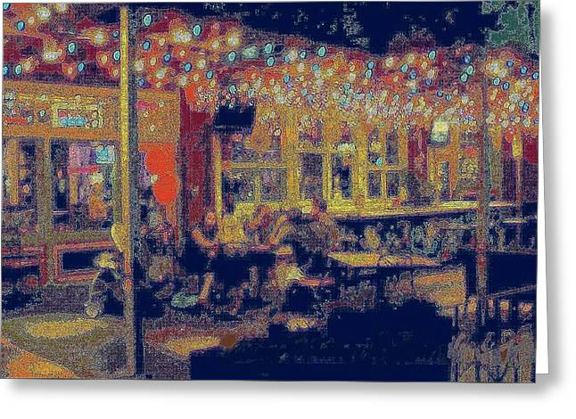 The Bistro Patio Greeting Card by ARTography by Pamela Smale Williams