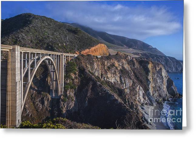 The Bixby Bridge Greeting Card by Mitch Shindelbower