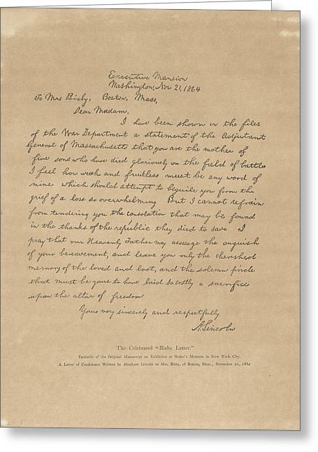 The Bixby Letter Greeting Card