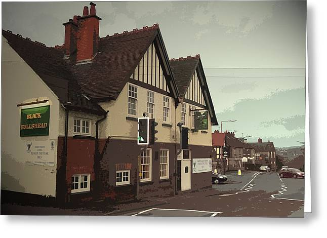 The Black Bulls Head, Openwoodgate, Excellent Real Ale Pub Greeting Card by Litz Collection