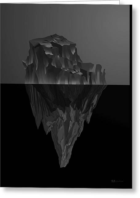 The Black Iceberg Greeting Card by Serge Averbukh