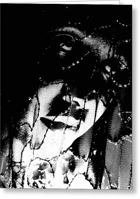 Greeting Card featuring the photograph The Black Madonna by Cleaster Cotton