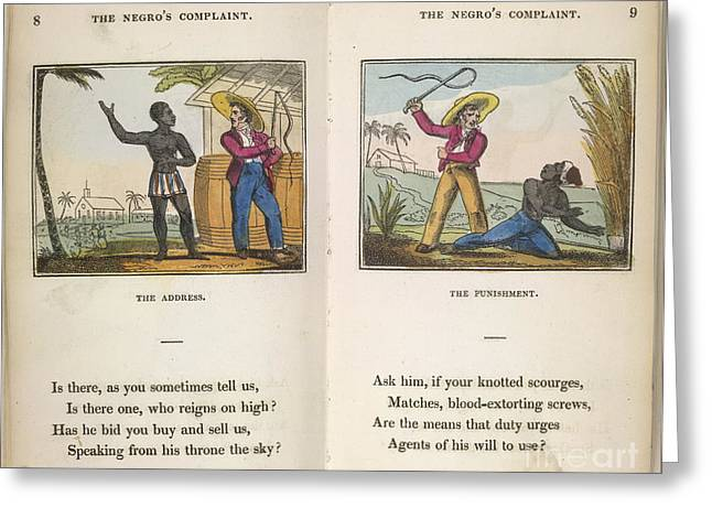 The Black Man's Lament Greeting Card by British Library