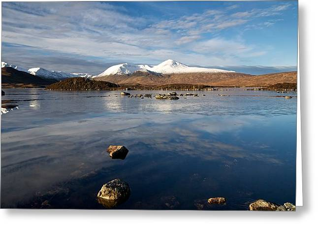 Greeting Card featuring the photograph The Black Mount by Stephen Taylor