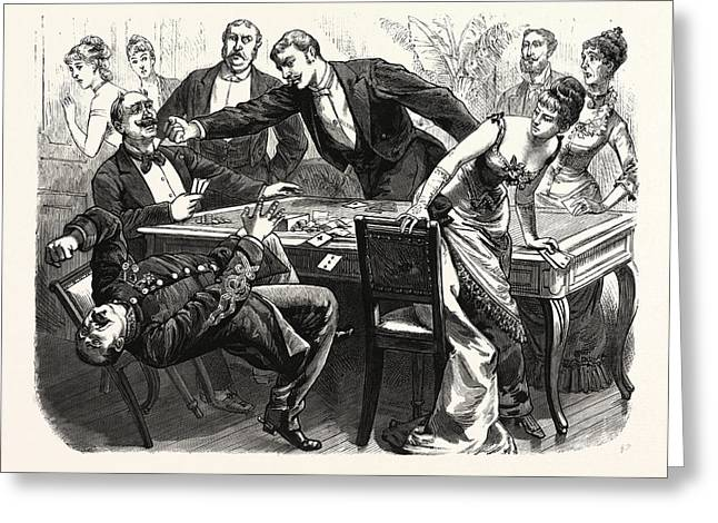 The Black Robe Scene In The Drawing-room At Boulogne Greeting Card