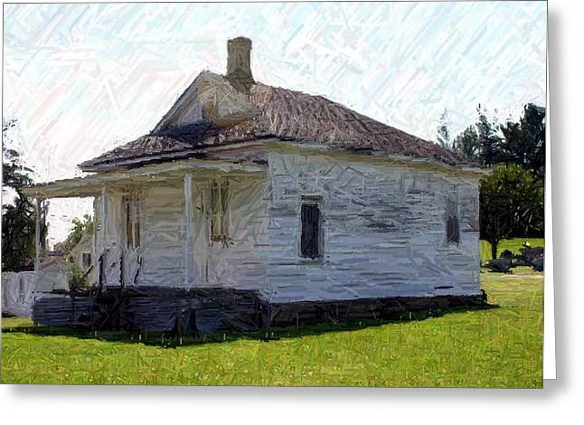 The Black Schoolhouse - Perryville Ky Greeting Card by Thia Stover