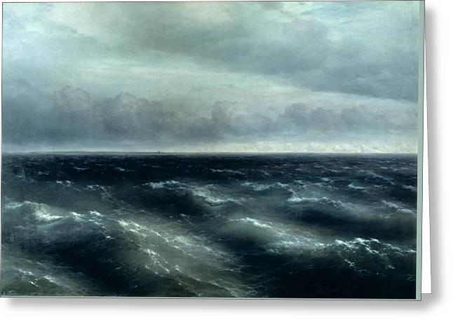 The Black Sea Greeting Card by Ivan Konstantinovich Aivazovsky