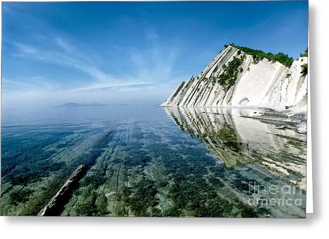 The Black Sea Coast Greeting Card by Vladimir Sidoropolev