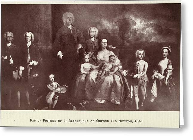 The Blackburne Family Greeting Card by British Library