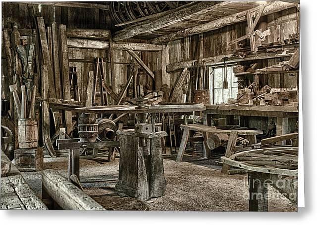 The Blacksmith Shop Greeting Card