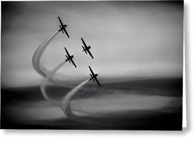 The Blades In Formation Sunderland Air Show 2014 Greeting Card by Scott Lyons