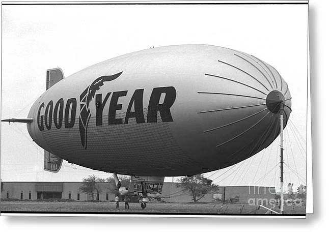 The Goodyear Blimp In 1979 Greeting Card