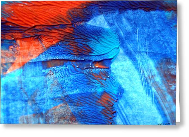 The Blue And Red Affair Acryl Knights Greeting Card by Sir Josef - Social Critic -  Maha Art