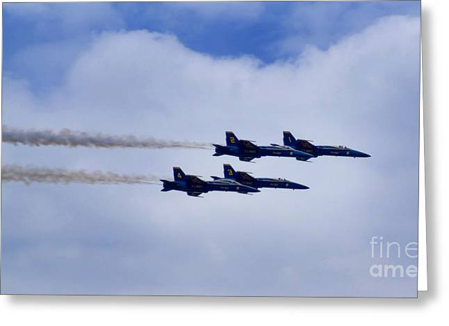 The Blue Angels Greeting Card by Benjamin Reed