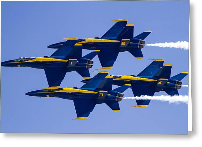 The Blue Angels In Action 1 Greeting Card