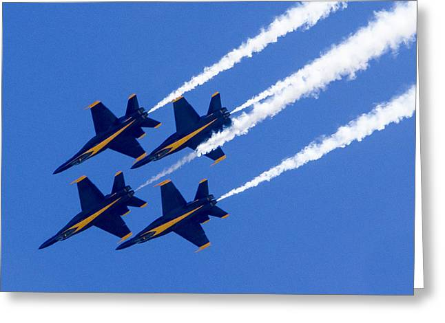 The Blue Angels In Action 2 Greeting Card